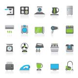 Household appliances and electronics icons Royalty Free Stock Photos