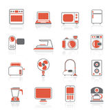 Household appliances and electronics icons Royalty Free Stock Image