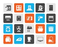 Household appliances and electronics icons. Vector, icon set vector illustration