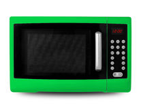 Household appliances - Green Microwave Royalty Free Stock Images