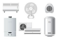 Household Appliances | Heating, air conditioning royalty free stock photos