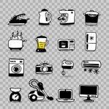 Household appliances  icon set Stock Image