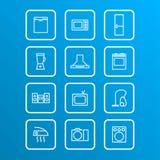 Household appliances icons Royalty Free Stock Photos