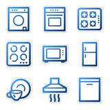Household appliances icons Royalty Free Stock Photography