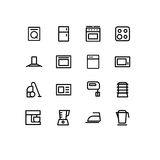 Household_appliances_icons Photos stock