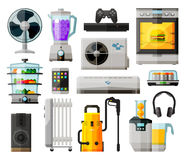 Household appliances icons collection. vector Royalty Free Stock Image