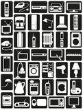 Household appliances icons Royalty Free Stock Photos