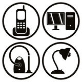 Household Appliances Icons Set 1. Royalty Free Stock Photo