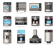 Household appliances icons set Stock Photo