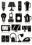 Household Appliances Icons Set. Stock Photo
