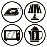 Household appliances icons set. Stock Images