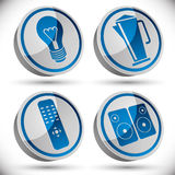 Household appliances icons set 2. Stock Photography