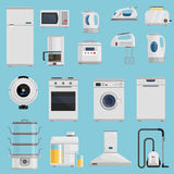 Household Appliances Icons Set Royalty Free Stock Images