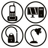 Household appliances icons set 1. Royalty Free Stock Photo