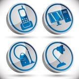Household appliances icons set 1. Royalty Free Stock Image