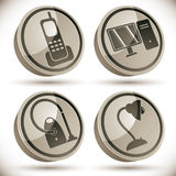 Household appliances icons set 4. Royalty Free Stock Image