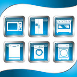 Household appliances icons Royalty Free Stock Photo