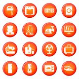 Household appliances icons vector set Stock Photo