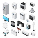Household Appliances Isometric Icons Set Royalty Free Stock Image