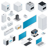 Household appliances isometric set Stock Photos