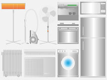 Household appliances on light background Royalty Free Stock Photo