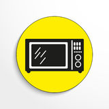 Household appliances. Microwave. Vector icon. Royalty Free Stock Photography