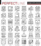 Household appliances outline mini concept symbols. royalty free illustration