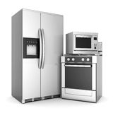 Household appliances. Picture of household appliances on a white background Stock Photo