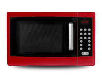 Household appliances - Red Microwave Stock Photography