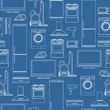 Household appliances seamless background Royalty Free Stock Photos