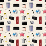 Household appliances seamless pattern Stock Photos