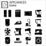 Household appliances set icon vector illustration