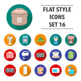 Household appliances set icons in flat style. Big collection household appliances vector symbol stock illustration Royalty Free Stock Photos