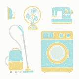 Household appliances set. Vector EPS10 hand drawn illustration Royalty Free Stock Image