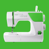 Household appliances - Sewing-machine green background Royalty Free Stock Photo