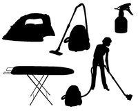 Household appliances silhouette Royalty Free Stock Photography