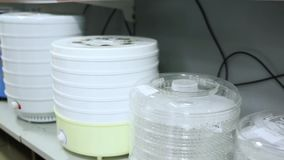 Household appliances in store stock footage