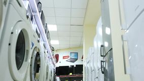 Household appliances in store stock video footage