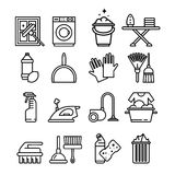 Household Appliances and Tools Icons Set Stock Image