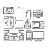 Household appliances. Vector icon set Stock Image