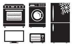 Household appliances vector icons Stock Photos