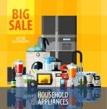Household appliances vector logo design template Stock Images