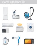 Household appliances vector set Royalty Free Stock Image