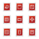 Household appliances web icons Royalty Free Stock Image