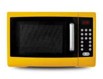 Household appliances - Yellow Microwave Stock Image