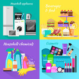 Household and Beverages Food Cosmetic Stock Photography