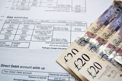 Household bills Royalty Free Stock Photography