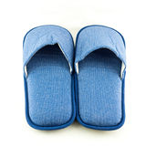 Household blue slippers Royalty Free Stock Photos