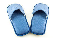 Household blue slippers Royalty Free Stock Images