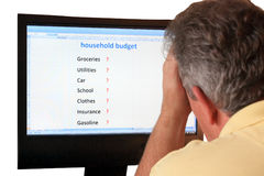 Household budget royalty free stock photography